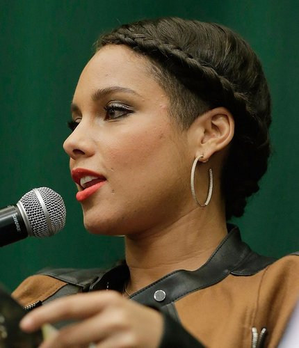 Alicia Keys: Geflochtener Pony