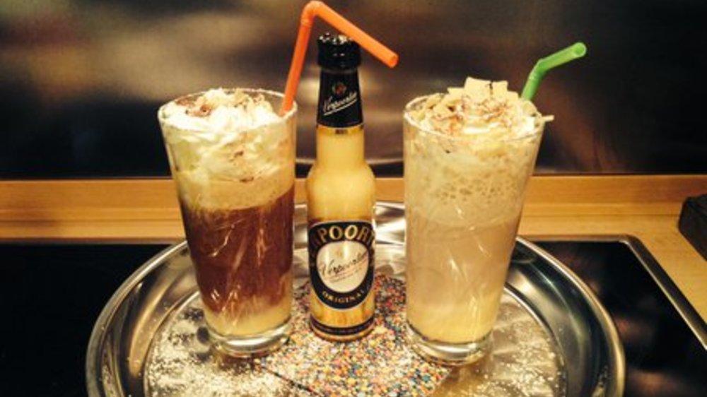 Ei Ei Ei im Schneegestober mit Espresso (links)