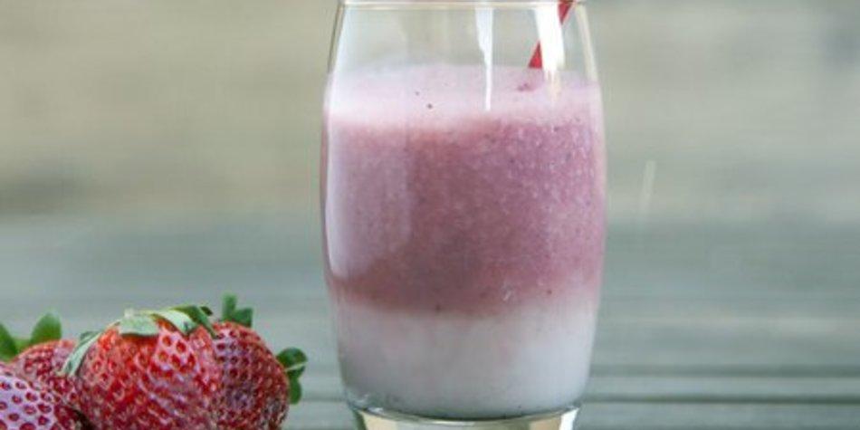Erdbeer Milchshake selber machen