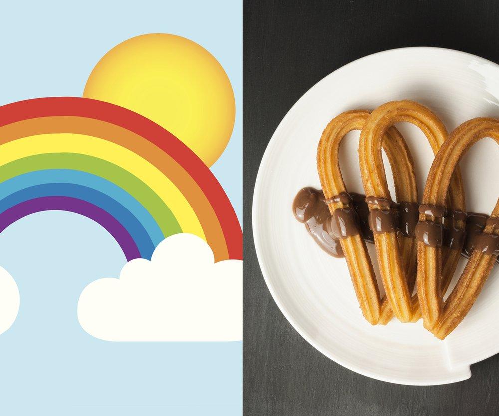 rainbow churros