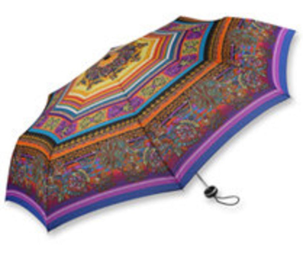 Regenschirme im Hippie-Style