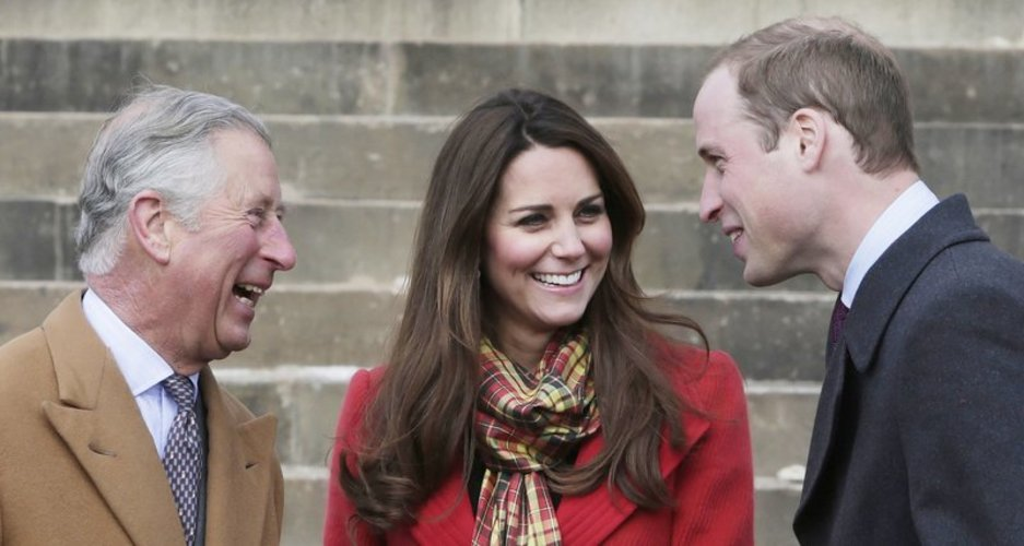Prinz Charles, Kate Middleton und sein Sohn Prinz William