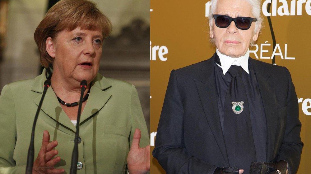 Karl Lagerfeld und Angela Merkel: Schlägt Mode jetzt Politik?