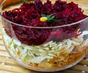 Russischer Schichtsalat