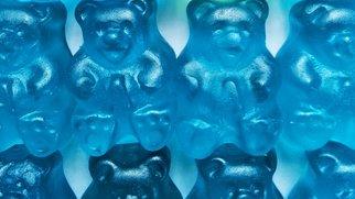 Blaue Gummibärchen