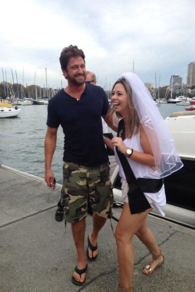 Gerard Butler mit der Braut
