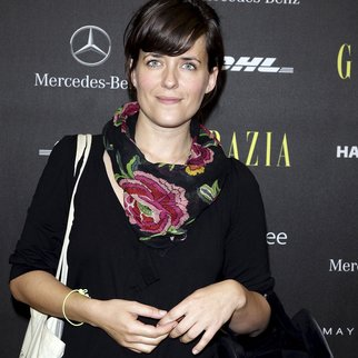 BERLIN, GERMANY - JULY 05: Sarah Kuttner attends the Opening Night by GRAZIA Mercedes-Benz Fashion Week Berlin Spring/Summer 2012 at the Brandenburg Gate on July 5, 2011 in Berlin, Germany. (Photo by Andreas Rentz/Getty Images for IMG)