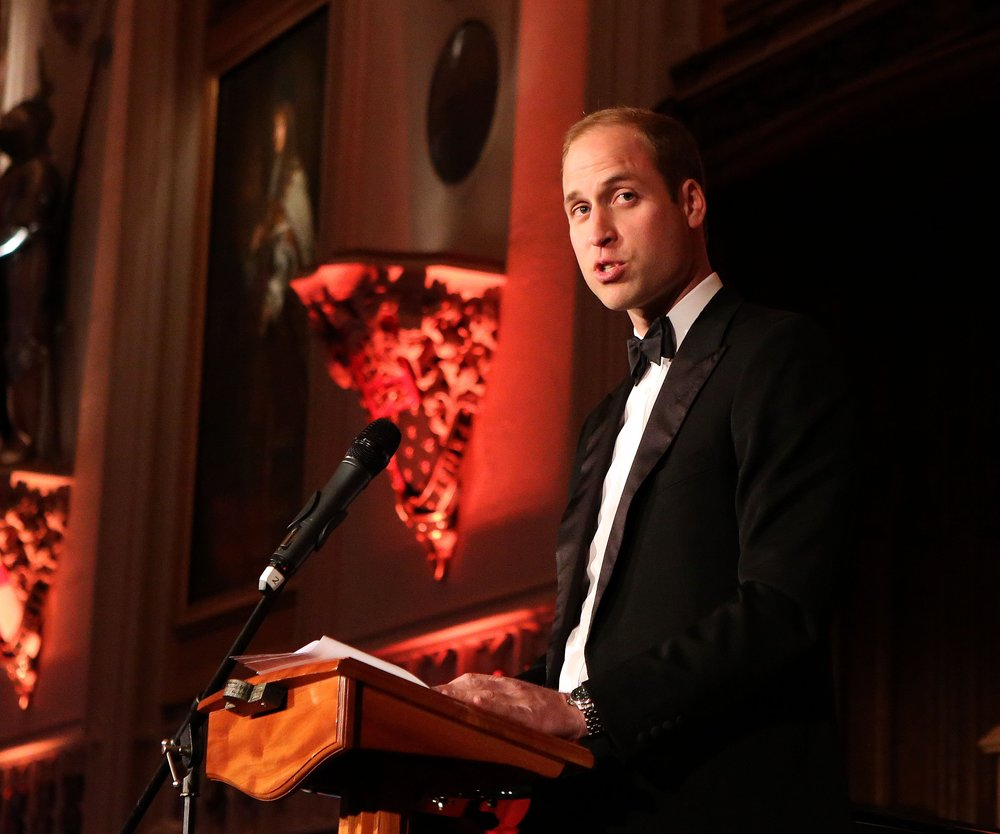 Prinz William macht blau