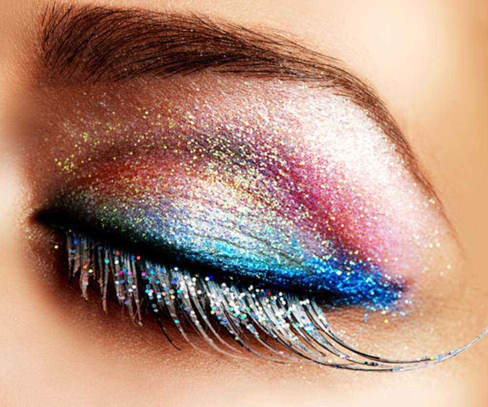 Glitzer-Make-up