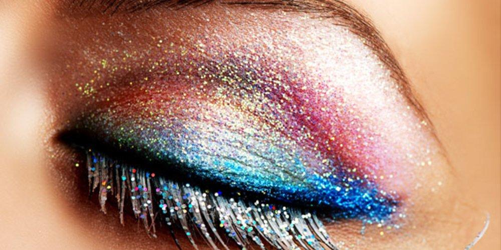 Glitzer-Make-up
