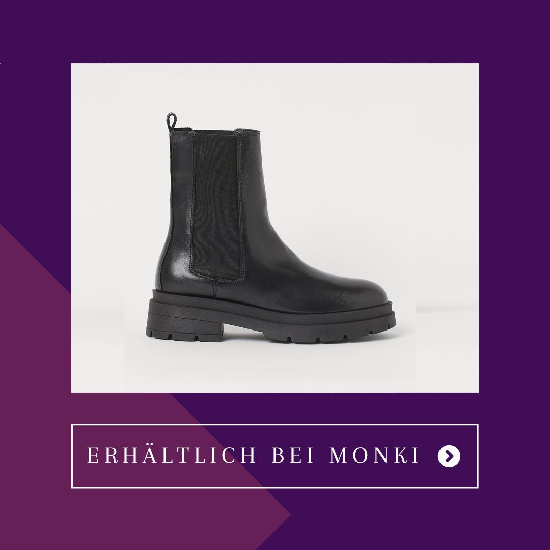 Chunky-Chelsea-Boots H&M Echtleder
