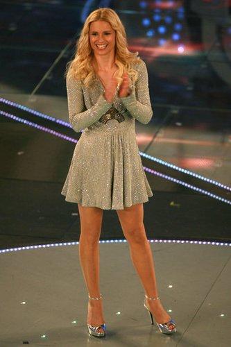 Sängerin Michelle Hunziker in San Remo