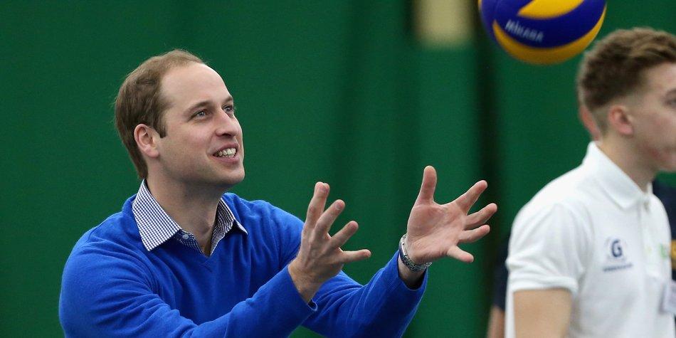 Prinz William: Macht er Prinz George zum Volleyballstar?