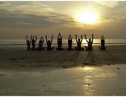 Yoga-Kult am Meer
