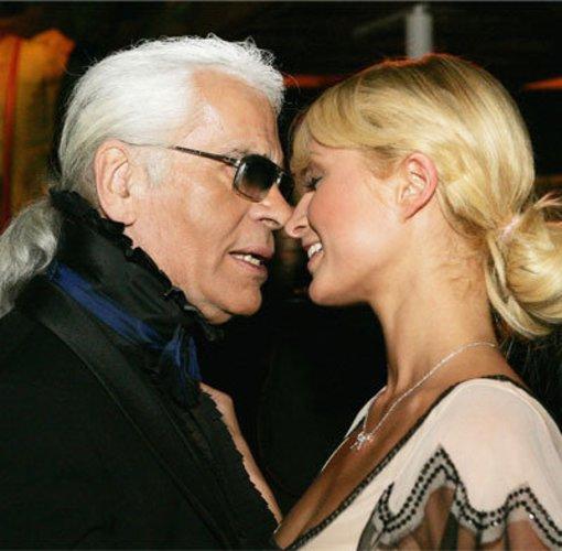 Millarl Lagerfeldionenerbin Paris Hilton und Karl Lagerfeld
