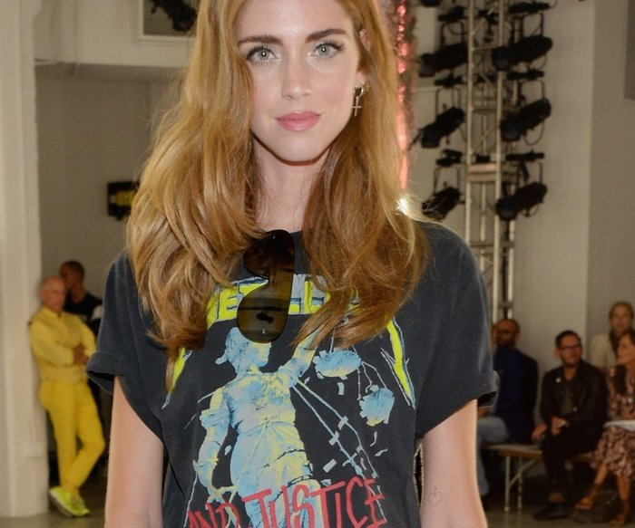 NEW YORK, NY - SEPTEMBER 15: Blogger Chiara Ferragni attends Rodarte Spring 2016 during New York Fashion Week at Center 548 on September 15, 2015 in New York City. (Photo by Ben Gabbe/Getty Images)