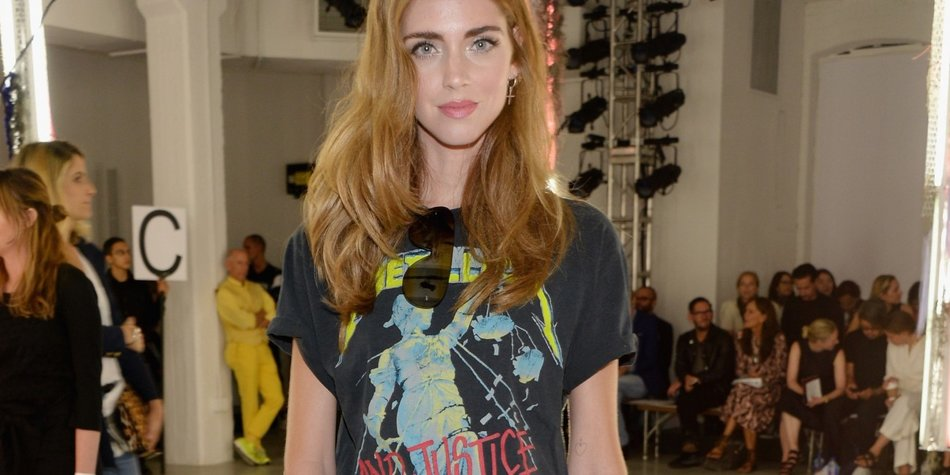 NEW YORK, NY - SEPTEMBER 15: Blogger Chiara Ferragni attends Rodarte Spring 2016 during New York Fashion Week at Center 548 on September 15, 2015 in New York City. (Photo by Ben Gabbe/Getty Images)