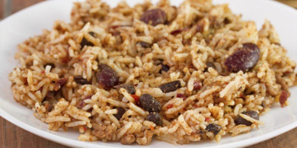 Reispfanne mit Hack