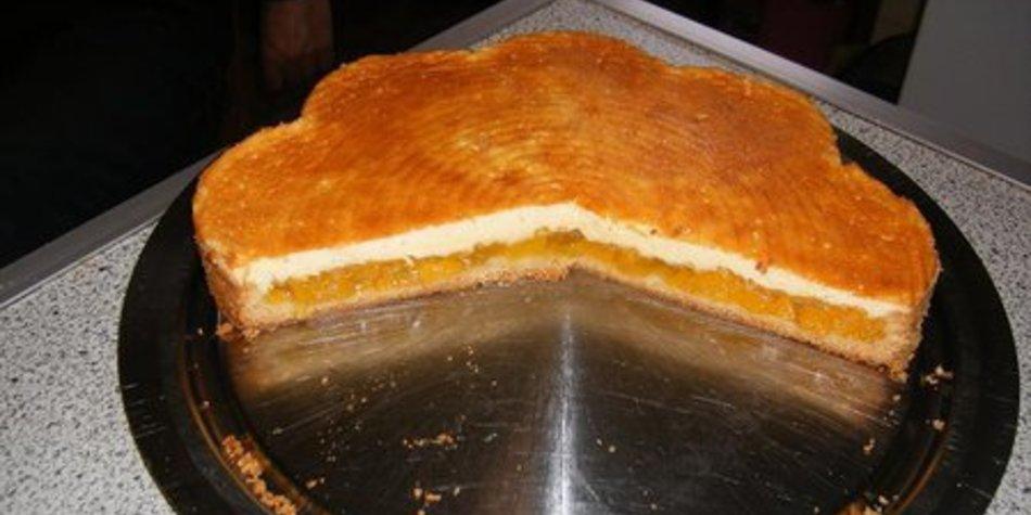 Pfirischkuchen mit Schmandguss