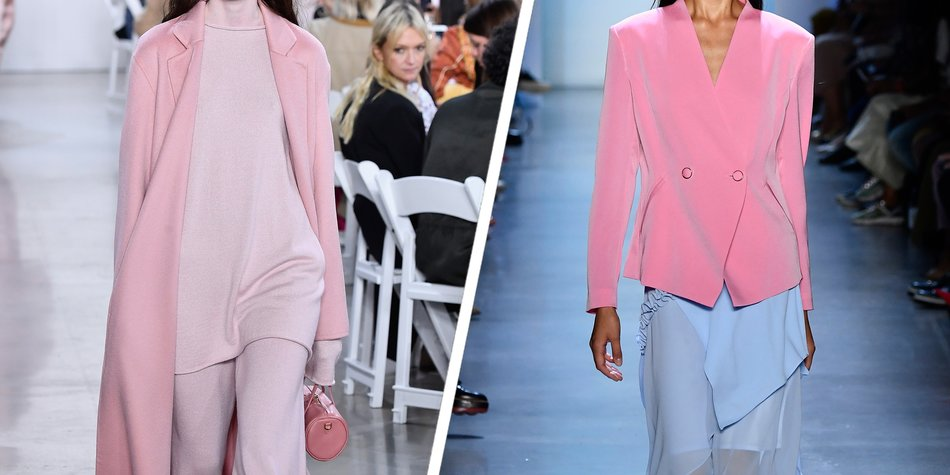 Outfits in Double-Pastel versprühen erste Summer-Vibes