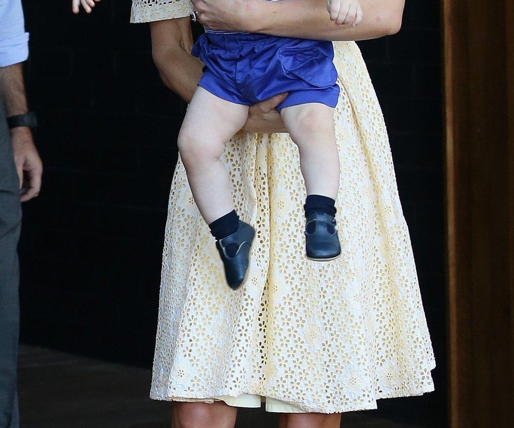 Kate Middleton, Prinz William und George treffen den Osterhasen