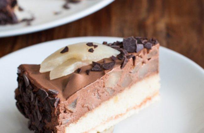 Zum Nachbacken empfohlen: Birnen-Schokomousse-Torte