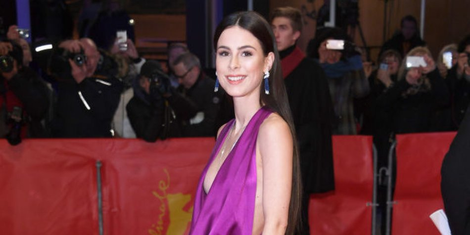BERLIN GERMANY- FEBRUARY 19 Lena Meyer Landrut attends the '3 Days in Quiberon&#039 premiere during the 68th Berlinale International Film Festival Berlin at Berlinale Palast