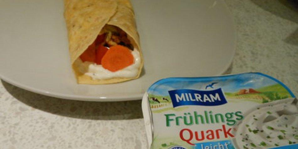 Puten Wraps mit Milram-Frühlingsquark