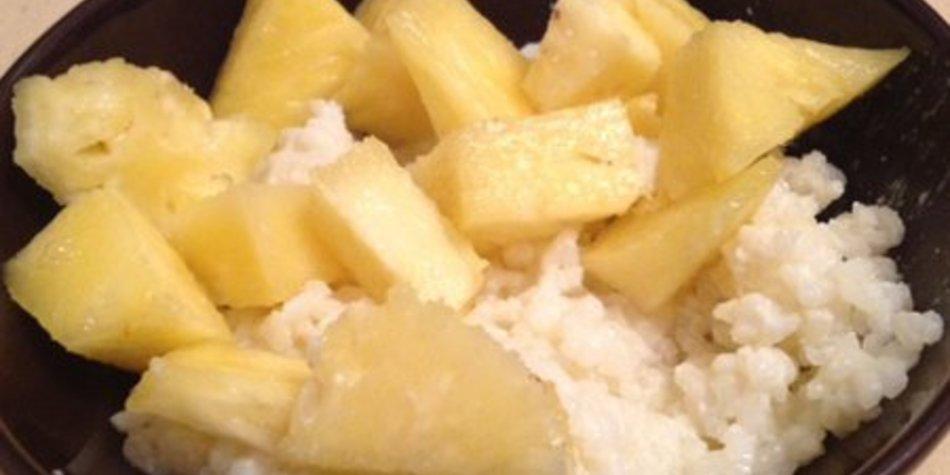 Milchreis mit Ananas