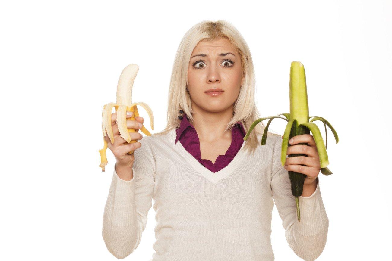 Banane oder Gurke