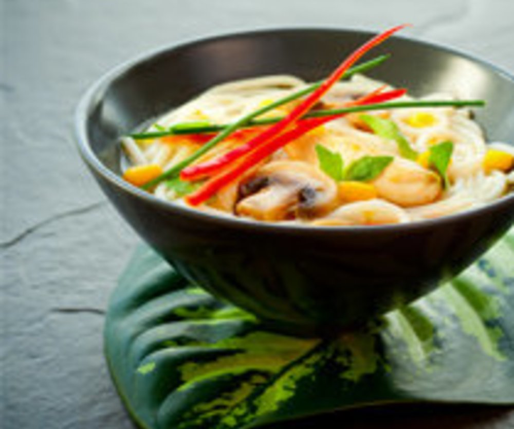 Thai-Ingwer-Suppe mit Chili