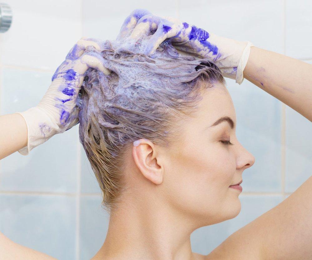 Silbershampoo gegen Grünstich