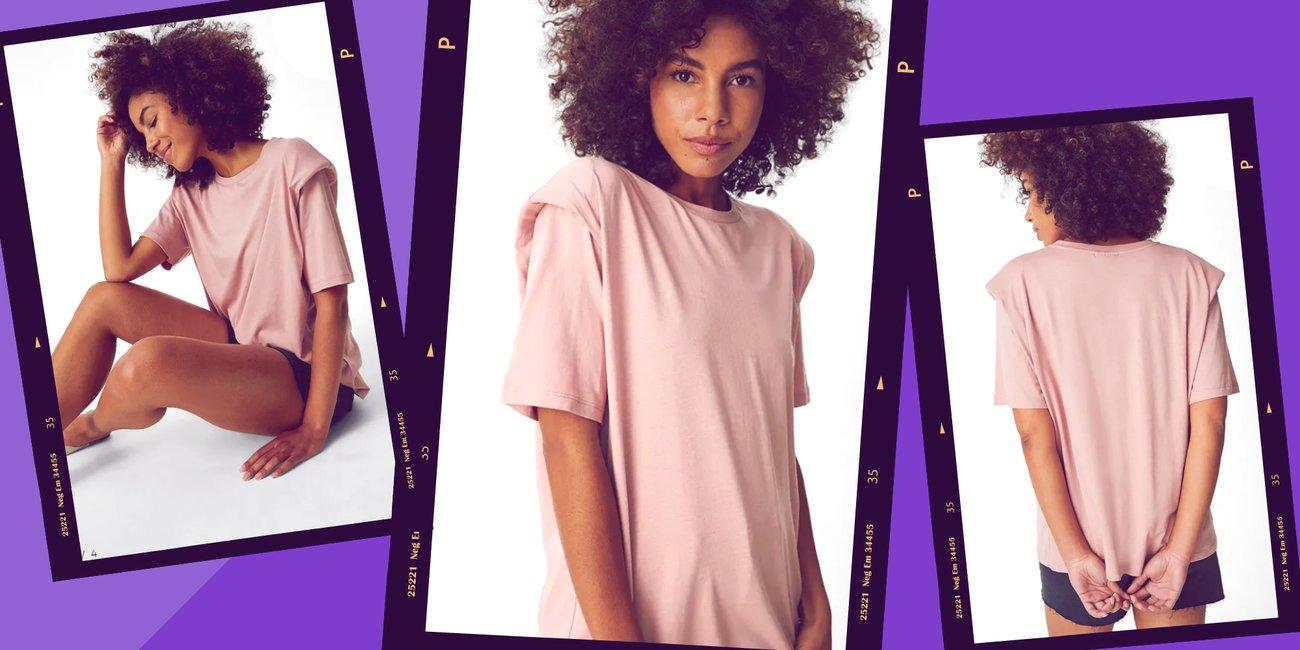 C&A T-Shirt mit Schulterpolstern