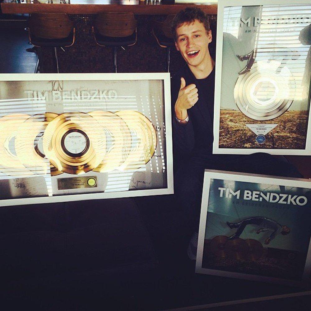 Tim Bendzko erhält gleich mehrere Goldene Schallplatten