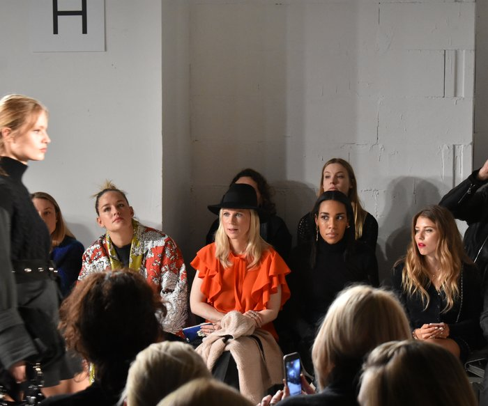 Front-Row im Urban Jungle bei Dorothee Schumacher auf der Mercedes-Benz Fashion Week Berlin.