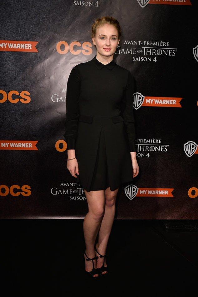 Game of Thrones-Star Sophie Turner auf dem roten Teppich