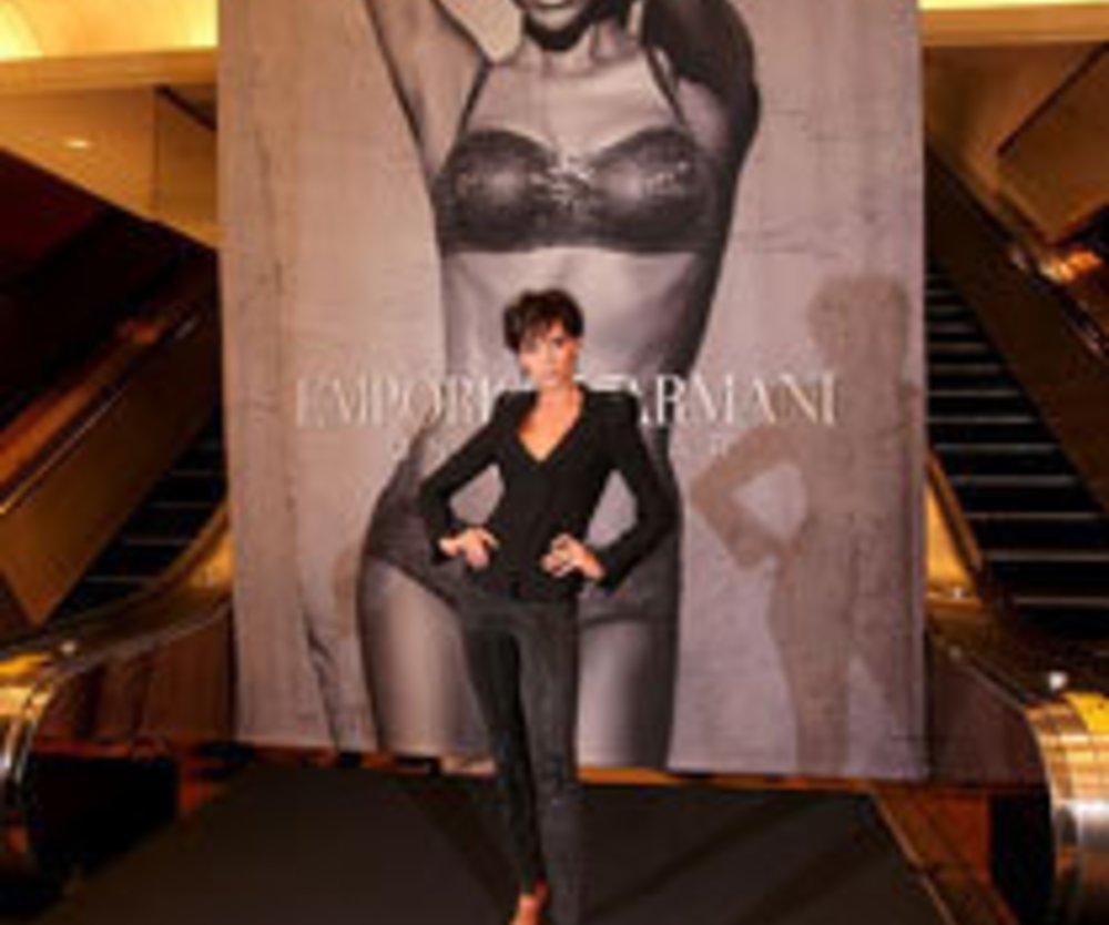 Die Stilikone und der Star-Designer: Victoria Beckham für Armani