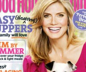 Heidi Klum auf dem Cover von Good Housekeeping