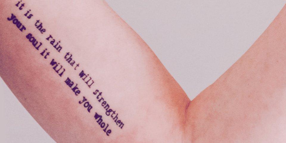 Frau sprüche tattoos schöne 33 Schöne