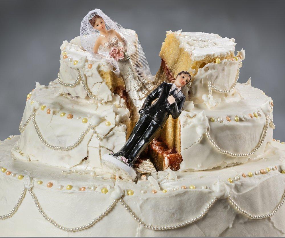 Scheidung Torte