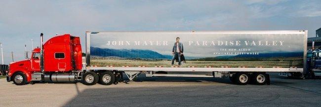 John Mayer ist auf dem Truck zu sehen