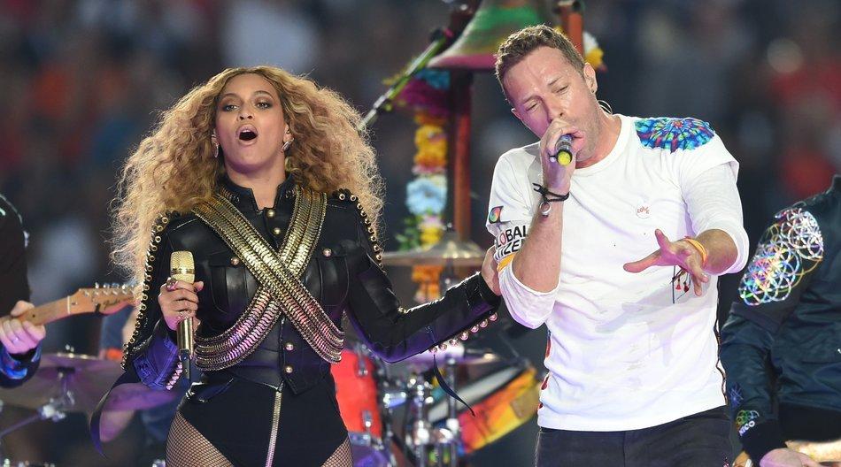 Beyonce, Chris Martin und Bruno Mars waren beim 50. Super Bowl ein tolles Team