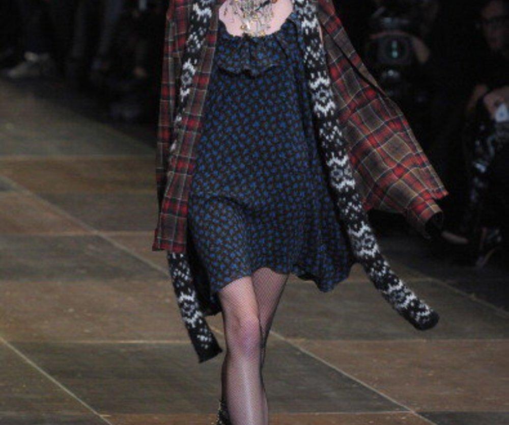 Outfit von Saint Laurent bei der Paris Fashion Week 2013