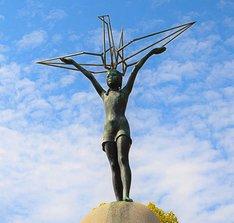 Sasaki Sadako Denkmal mit Kranich