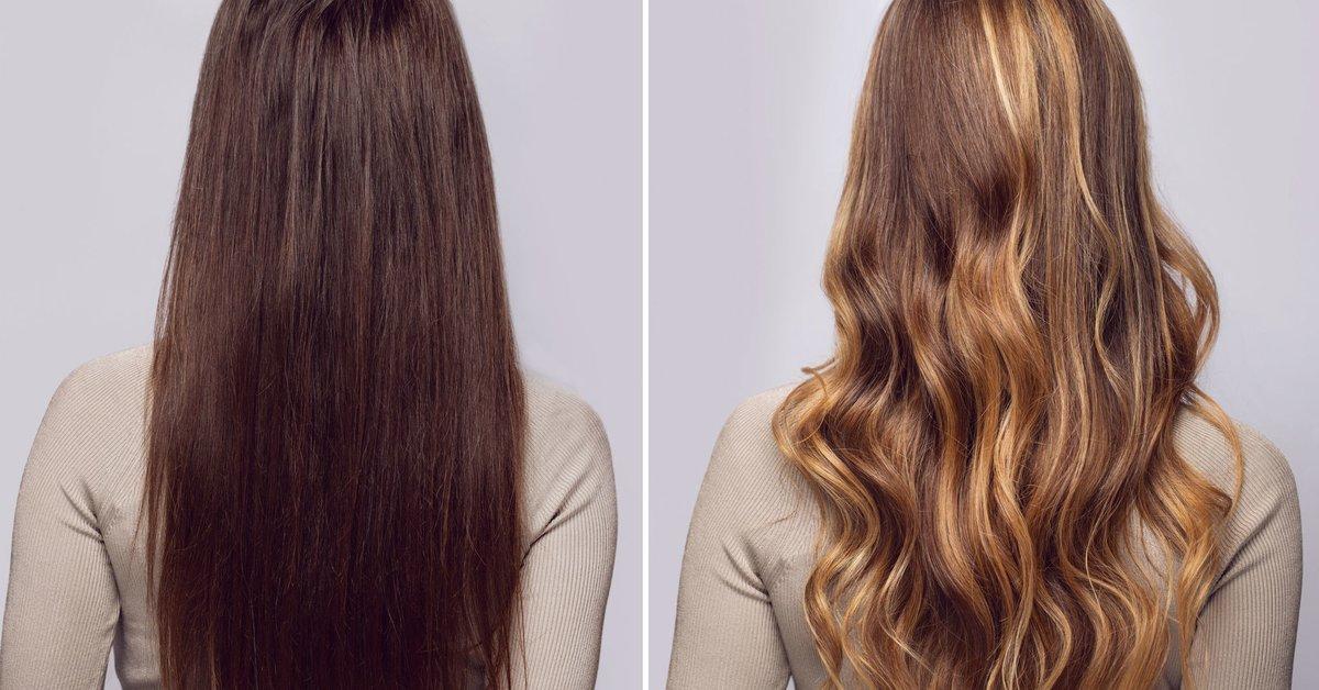 Braune haare für haarsträhnen Graue Strähnchen