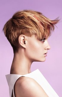 Cooler Pixie Cut in Kupfer