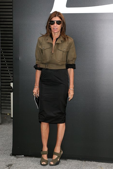 Carine Roitfeld bei einer Saint Laurent Show