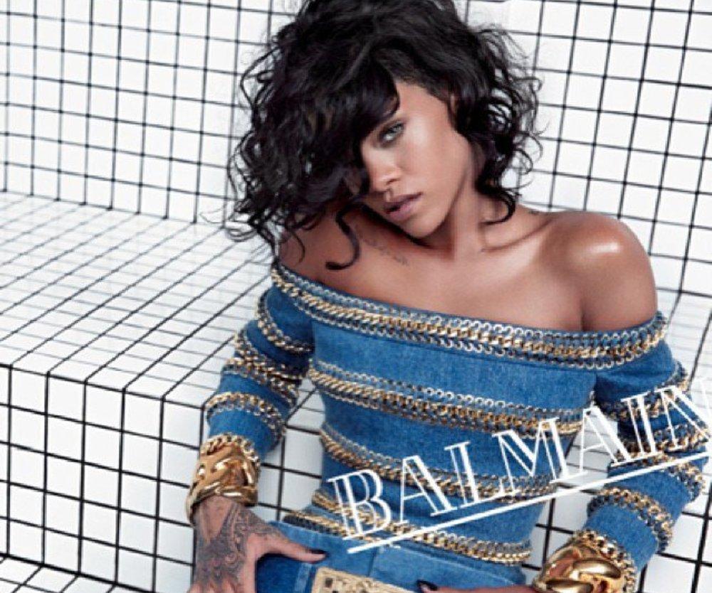 Rihanna modelt für Balmain