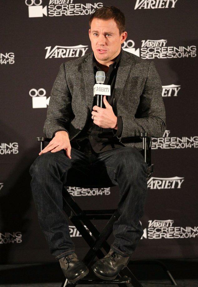 Channing Tatum stellt sich den Fragen der Presse