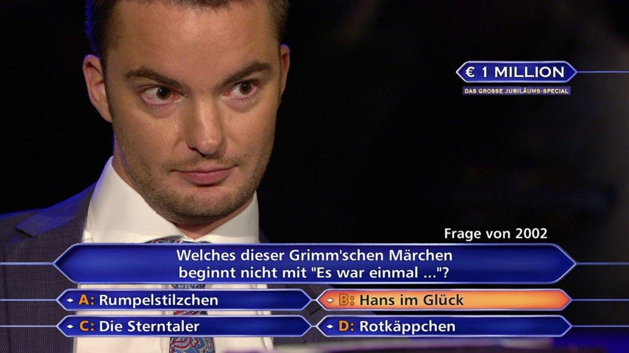 20 Jahre Wer wird Millionär? Das große Jubiläums-Special Jan Stroh aus Hamburg